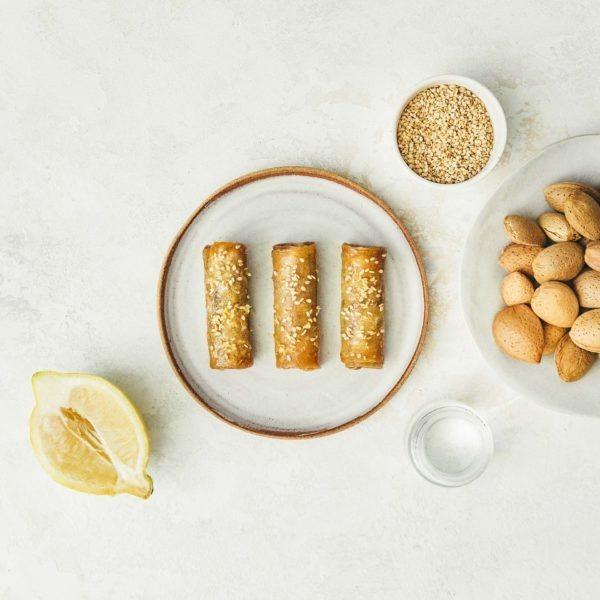 Lormiellerie-pâtisserie-marocaine-lyon-cigare-au-miel-amandes-présentation