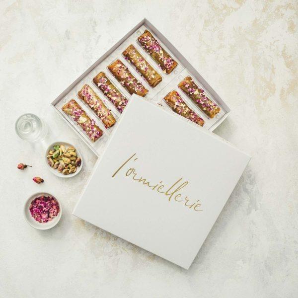 Lormiellerie-pâtisserie-marocaine-lyon-cigare-au-miel-pistache-x12