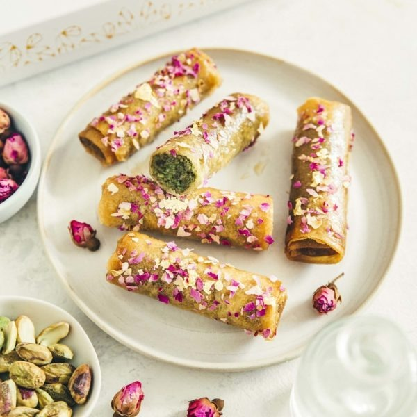Lormiellerie-pâtisserie-marocaine-lyon-cigare-au-miel-pistache-zoom